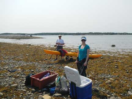 Emma-Posluns-and-Stan-Clark-eelgrass-monitoring